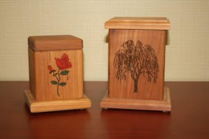 R: Solid Rosewood Urn Willow or Rose