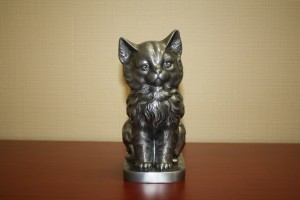 G: Pewter Cat Urn