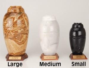 J: Marble Vase Urn