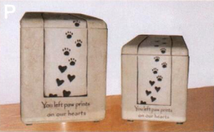 P: Paw Prints on Our Hearts Urn